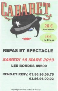 Repas et Spectacle Cabaret @ Foyer Communal